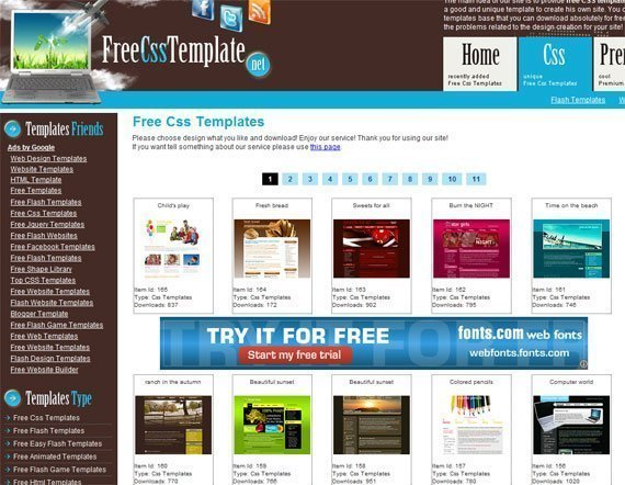 free-css-templates