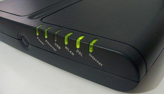 adsl modem ışık