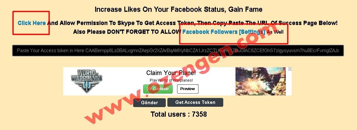 Facebook abone
