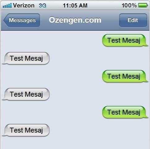 iphone sahte mesaj