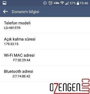 telefon mac adres