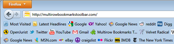 Mozilla toolbar