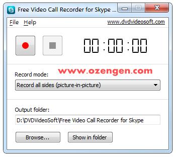 skype kaydet