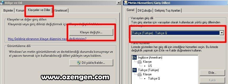 türkçe klavye