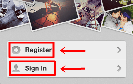 instagram register