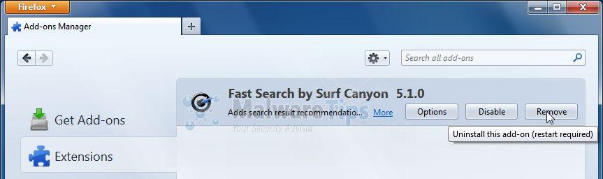 Surf-Canyon-uzantı
