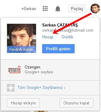 google+ hesap