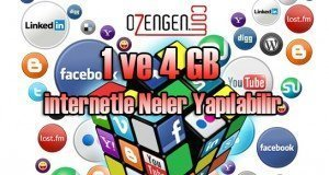 1 ve 4 gb internet
