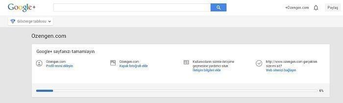 google+ sayfa