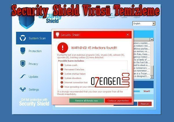 security shield virüsü