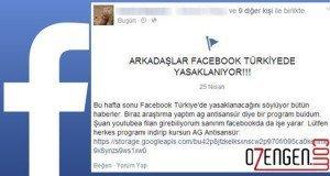 Facebook yasaklanıyor virüs