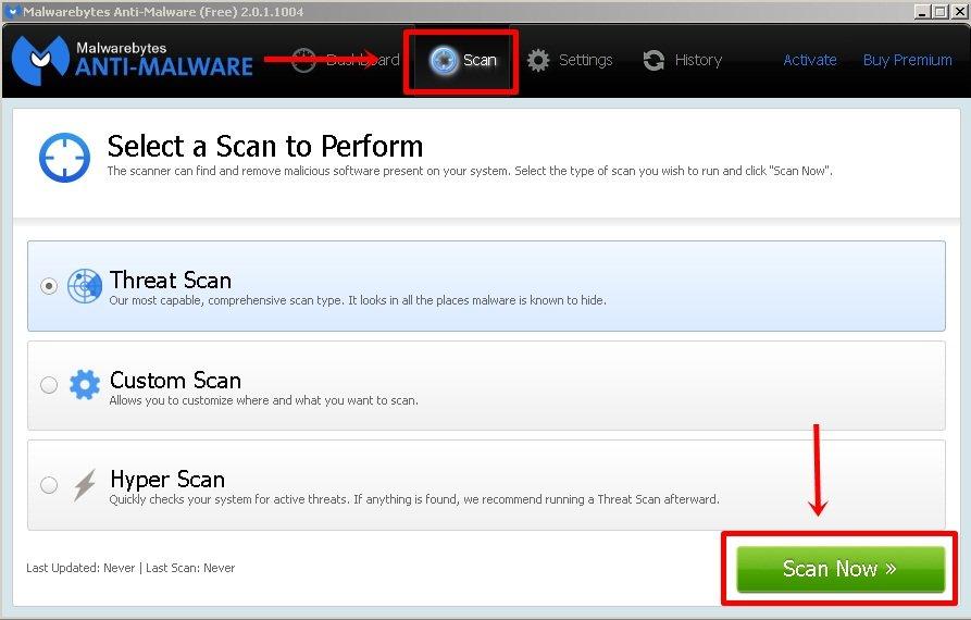 MalwareBytes kullanım 1