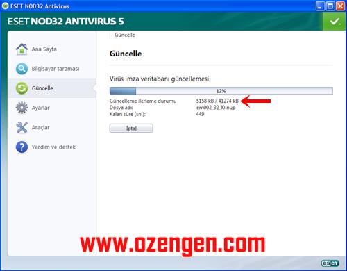 antivirüs güncelleme