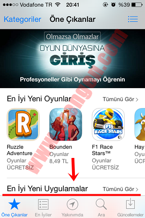 app store kullanım