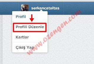 profil düzenle