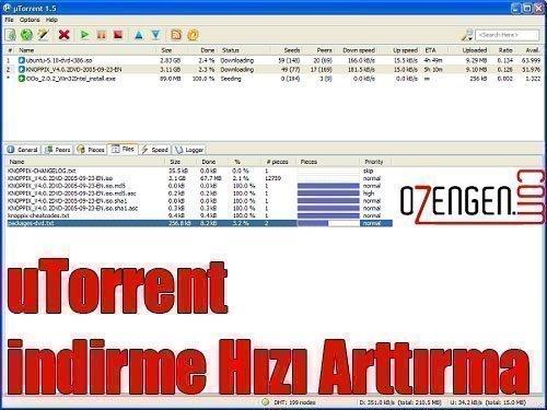 utorrent hız arttırma