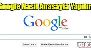 Google anasayfa