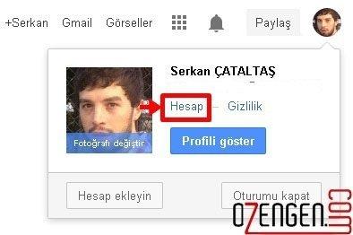 google hesap