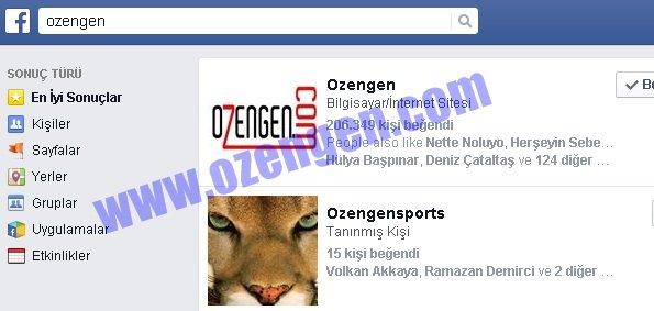 facebook arama