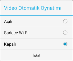 android otomatik video