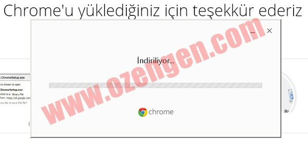 chrome indiriliyor