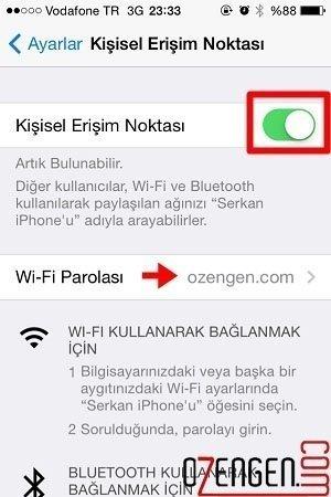 wifi paylaşım