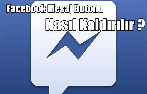 Facebook mesaj kapatma