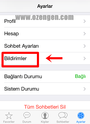 Whatsapp ayarlar
