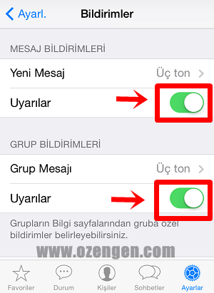 Iphone 6 whatsapp mesaj önizleme