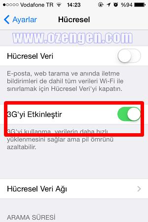 iphone 3g etkinleştir