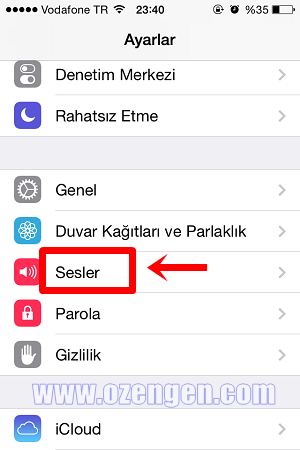 iphone sesler
