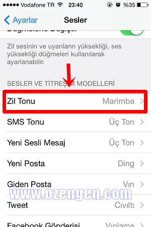 iphone zil tonu