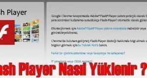 flash player kurulum