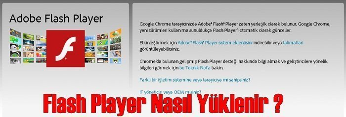 flash player kurulum