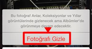 fotografi gizle