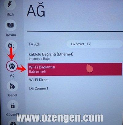 lg tv ağ ayarları