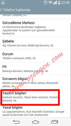 Android telefon bilgileri