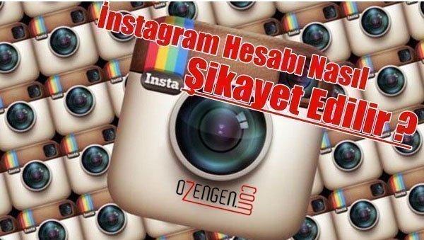 instagram sikayet
