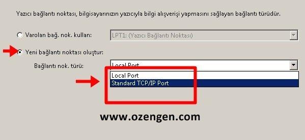 standart tcpip port