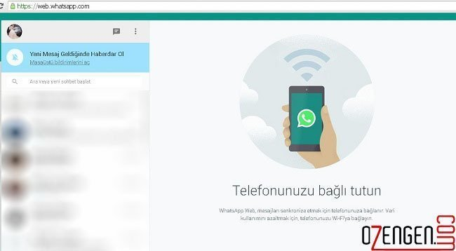 whatsapp web oturum