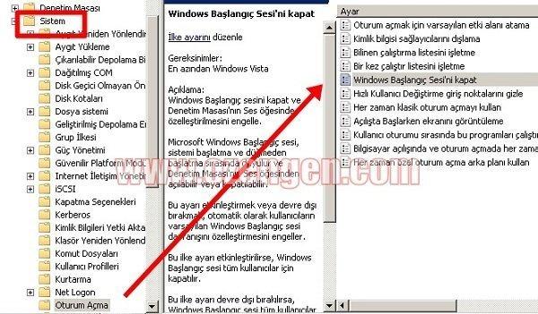 Windows acilis sesi