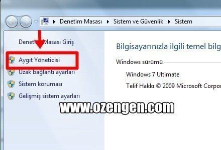 aygit yoneticisi