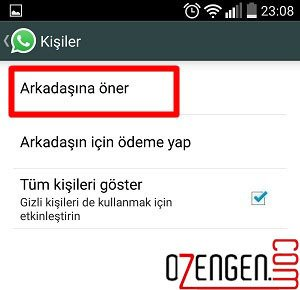 whatsapp arkadas oner