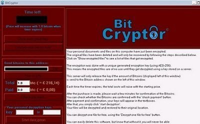 Bitcryptor virus