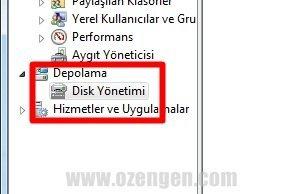 disk yonetimi