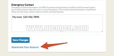 how to delete couchsurfing account