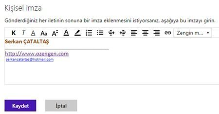 hotmail imza