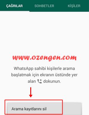 Whatsapp arama kaydi