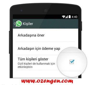 Whatsapp kisileri goster