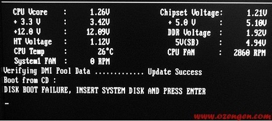 Disk boot failure insert system disk and press enter что делать xp